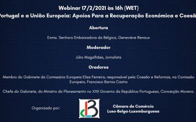 CCLBL Organiza Webinar 'Portugal e a União Europeia: Apoios Para a Recuperação Económica e Coesão'