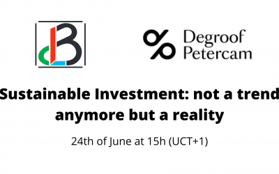 Webinar 'Sustainable Investment: not a trend anymore but a reality'